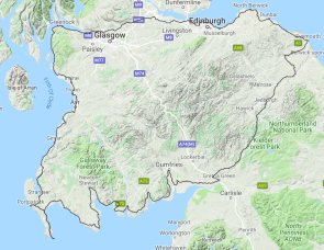 GT Passport South of Scotland Touring Route